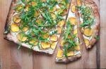 Süsskartoffel-Pizza mit Ruccola MINI