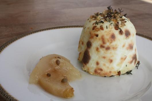 """Kochbuch """"Home made. Winter"""" - Brousse-Käse mit eingelegten Birnen II"""