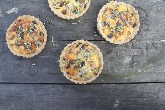 Pilze-Quiche mit Blauschimmelkäse I