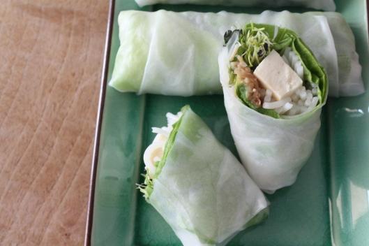 Tofu-Frühlingsrollen und Hoisinsauce I