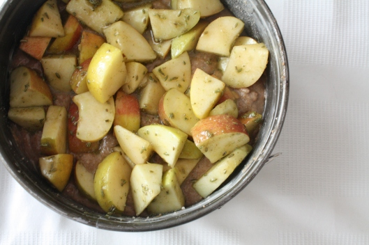 Apfel-Fenchelsamen-Kuchen mit selbstgemachter Caramelsauce IV