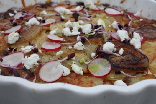 Zwiebel-Kartoffel-Tarte mit Bärlauchöl III