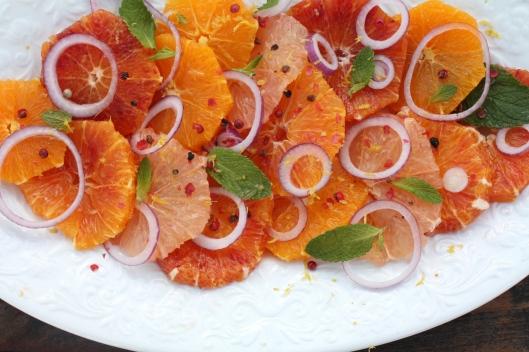 Zitrussalat mit rosa Pfeffer II