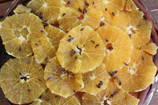 Lemon Curd-Ricotta Kuchen mit Orangen und Lavendel II
