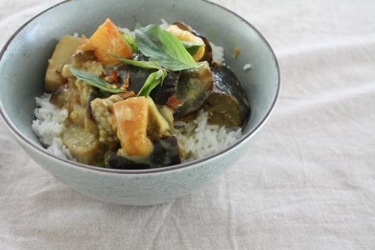 Auberginen-Pfirsich-Curry III