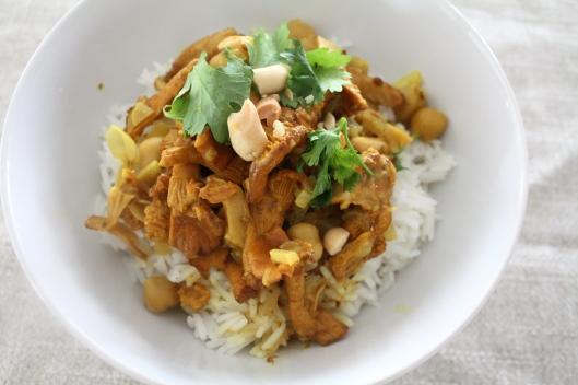 Curry mit Pfifferlingen III