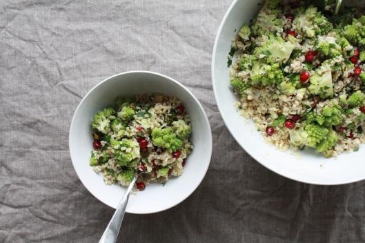 Bulgur Salat mit Romaneso und einem Za'atar-Dressing I