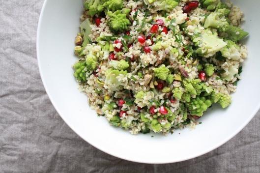 Bulgur Salat mit Romaneso und einem Za'atar-Dressing V