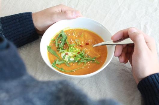 Karotten-Suppe mit Linsen I