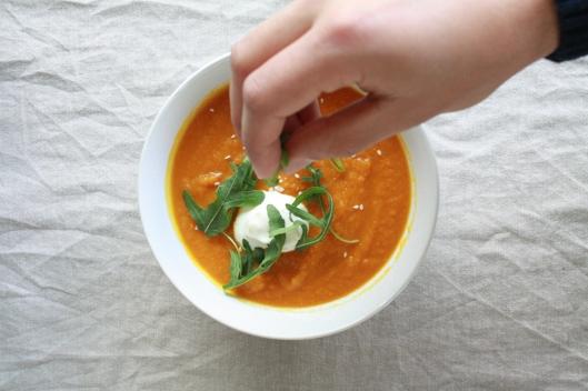 Karotten-Suppe mit Linsen II