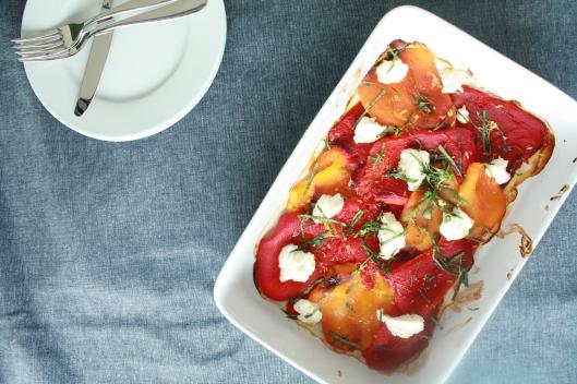 Peperoni aus dem Ofen mit Ricotta I