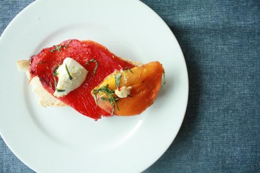 Peperoni aus dem Ofen mit Ricotta II