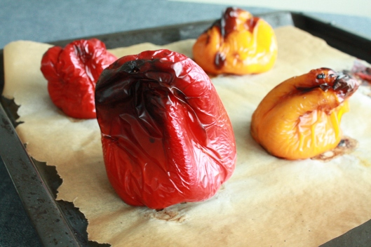 Peperoni aus dem Ofen mit Ricotta III