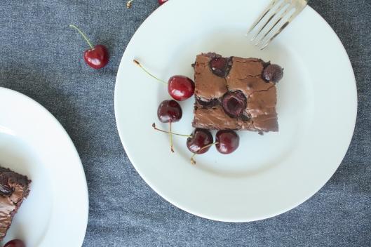 Kirschen-Brownies