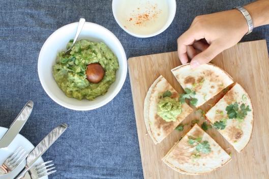Kürbis-Chorizo-Quesedillas mit Guacamole I