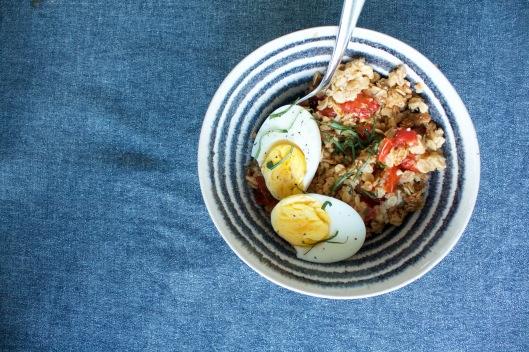 Tomaten-Basilikum-Crumble I